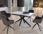 dining-table-fascination pieds etoile-mat-marble-ceramics-black-lacquered-steel-dt087ma-1-0